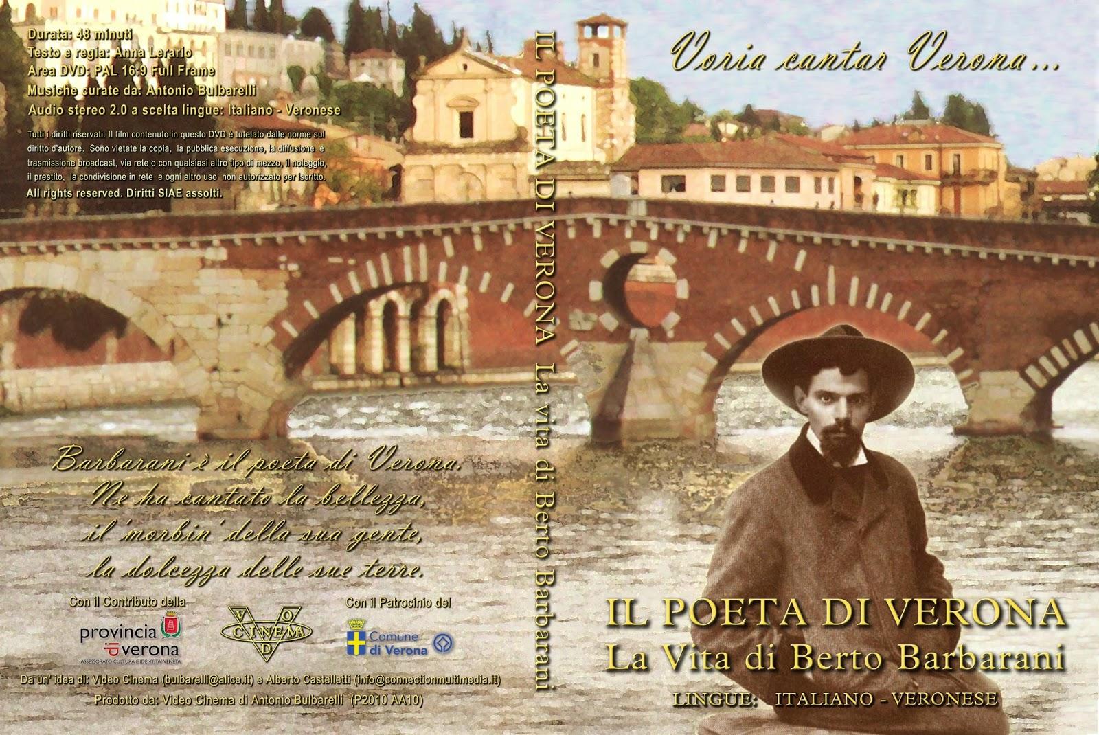 ... Civica di Verona in Via Cappello sarà organizzato un evento per  commemorare il 70°anniversario della morte del celebre poeta veronese Berto  Barbarani. eb3efd633333
