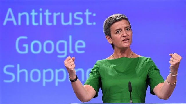 European Commission competition chief Margrethe Vestager hits Google with 2.4-billion-euro fine