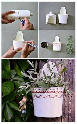 macertas personalizadas hechas con envases plásticos de shampoo