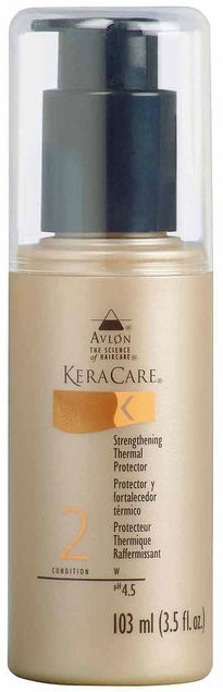Click here to buy KERACARE STRENGTHENING THERMAL PROTECTOR, one of the best for protecting natural hair during heat styling.