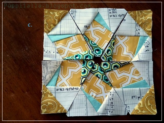 Puppilalla Paper Foundation Piecing Sampler Quilt Blocks Starflower