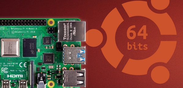 Ubuntu and Raspberry Pi 4 4GB 64-bit: a first functional core available