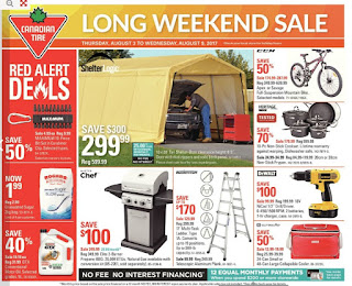 Canadian Tire Calgary Flyer Aug 3 to Aug 9, 2017