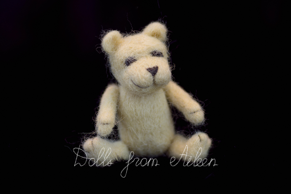 OOAK mini needle felted teddy bear