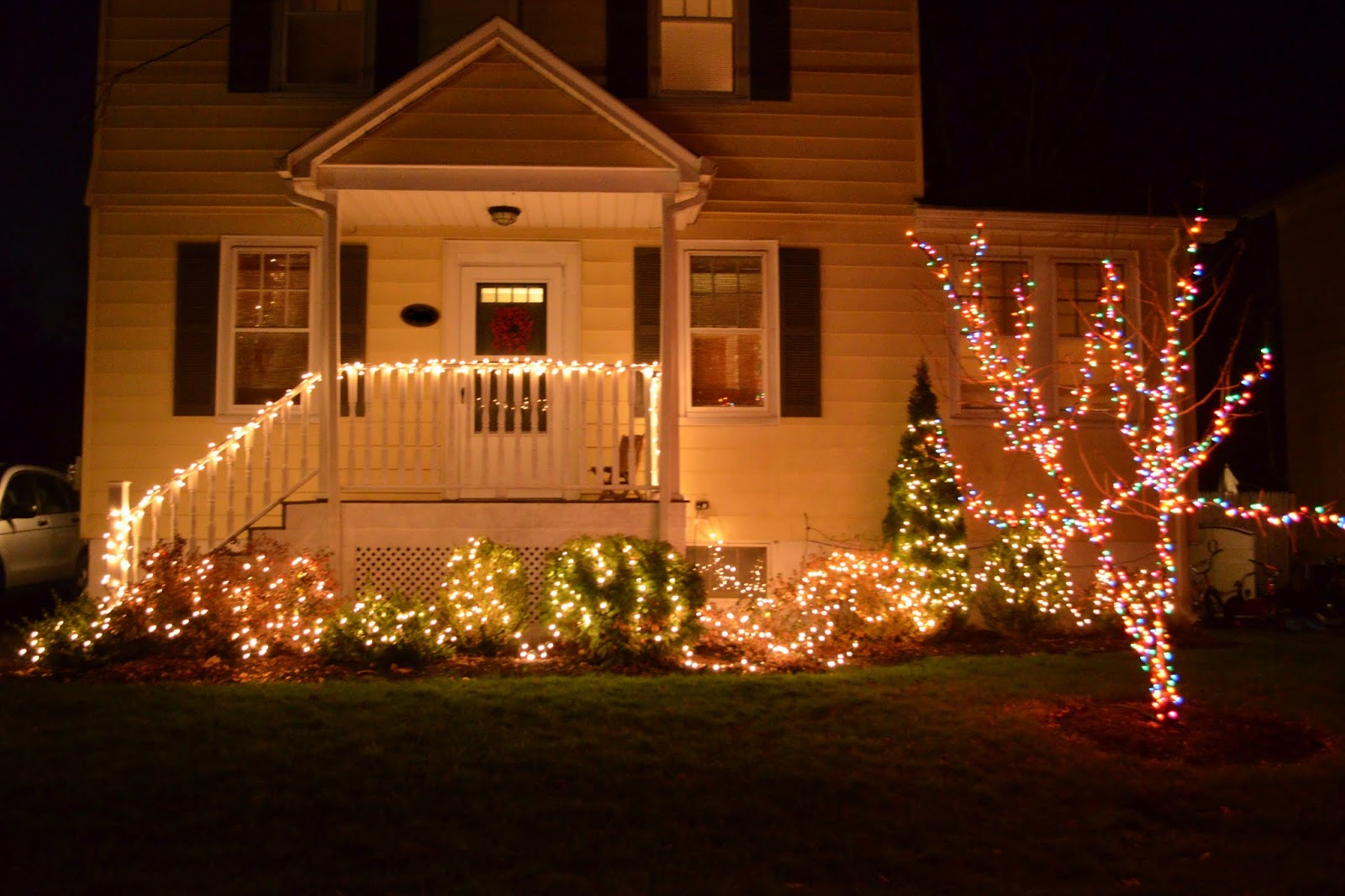 White And Colored Christmas Lights | Zef Jam