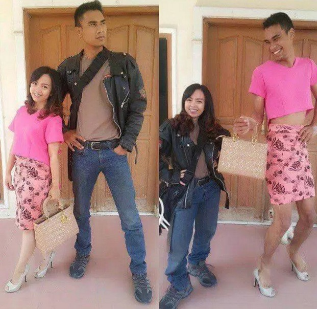 Trend Tukar Baju Dengan Pasangan