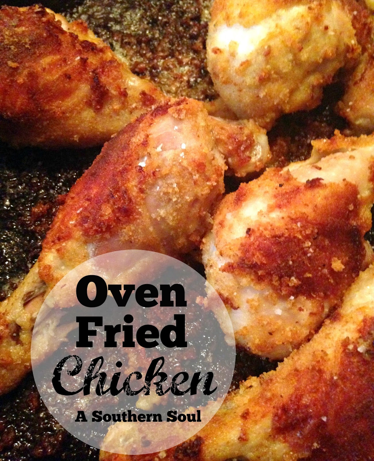 Oven fried chicken a southern soul make sure to check out more great recipes here at the weekend potluck forumfinder Images
