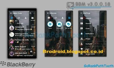 BBM Mod Transparan Apk Versi 3.0.0.18 Terbaru
