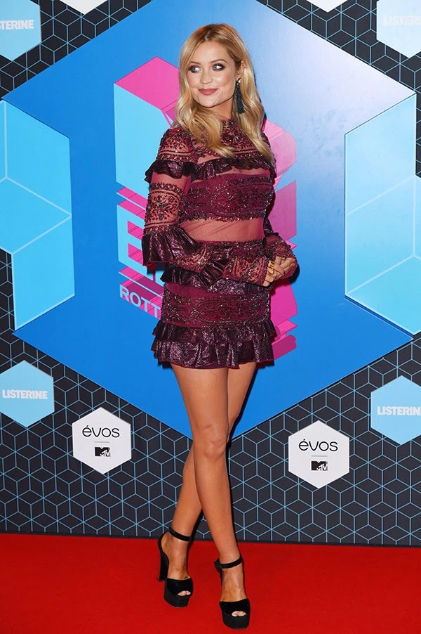 Laura Whitmore attends the MTV Europe Music Awards