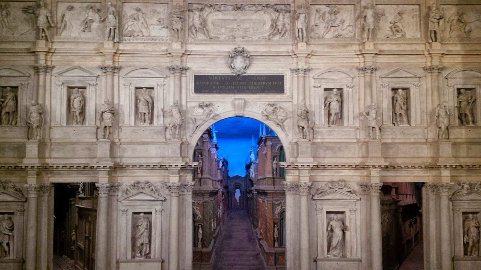 The stage of Teatro Olimpico in Vicenza