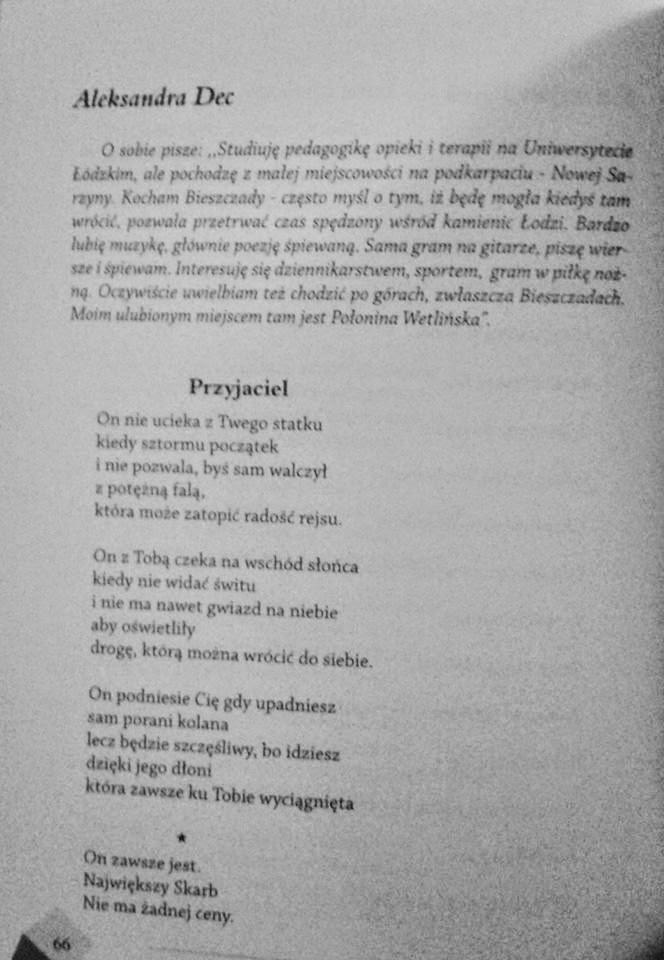 Poezja Aleksandra Dec Wiersze W Antologiach