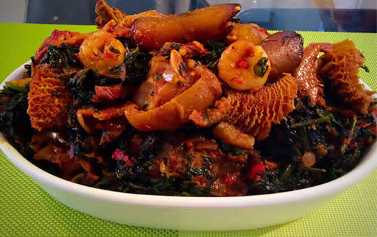 Ng-ofe-oweri tasty food