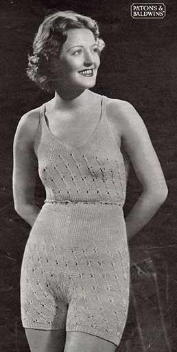 Vera Cami Knickers free 1930's knitting pattern