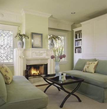 Sense and simplicity decorating with green - What color goes with sage green walls ...