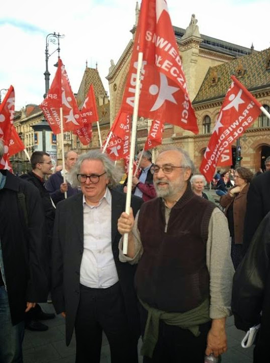 EEK and DIP at the antifascist demonstration in Budapest (3 April 2014)