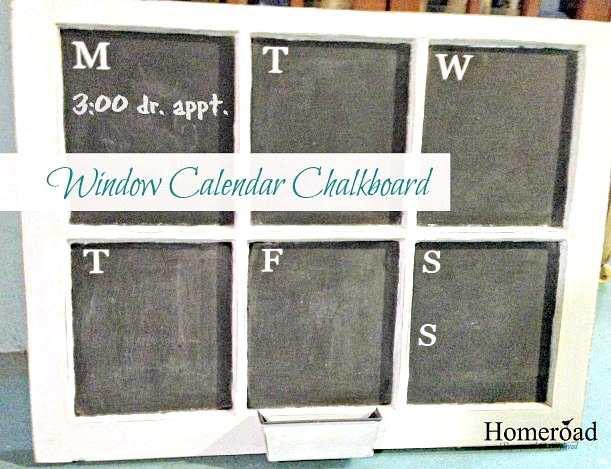 How to create a chalkboard calendar from an old window