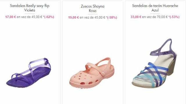 sandalias y zuecos Crocs