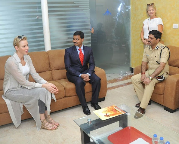 Princess Charlene at the Dindigul charity event, It is why they celebrated the birthday of Prince Jacques and Princess Gabriella