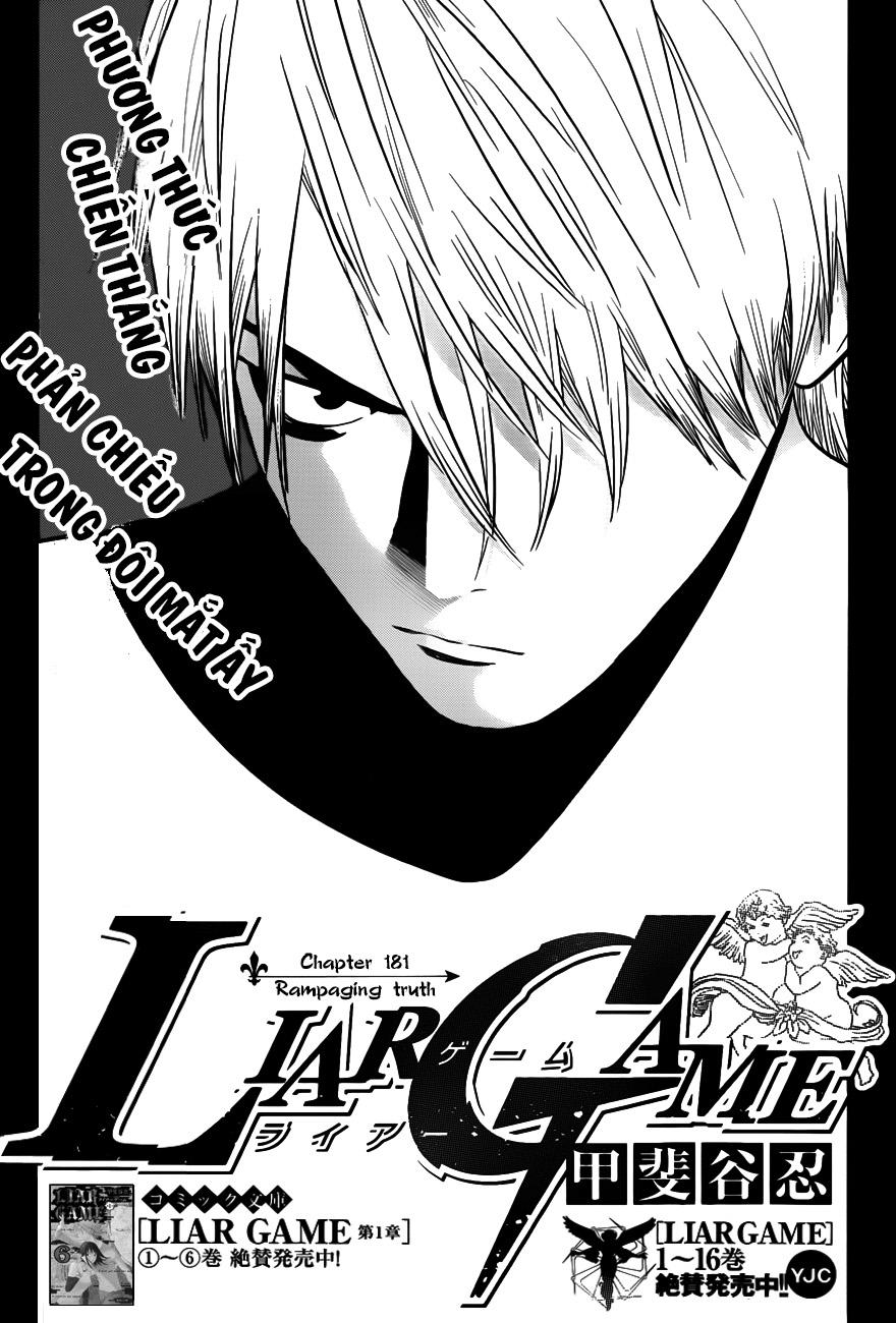 Liar Game Chap 181 - Trang 1