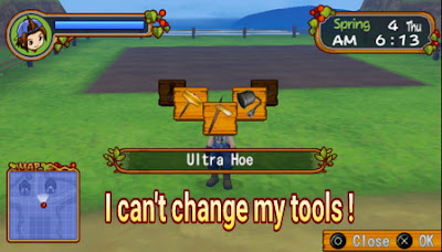 Solution of Tools can't be changed Harvest Moon: Hero of Leaf Valley