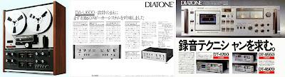 DIATONE-TEAC 1975 / DIATONE DA-U600/ DIATONE 1972 DT4700