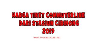 Harga Tiket Commuterline Dari Stasiun Cibinong Terbaru 2019