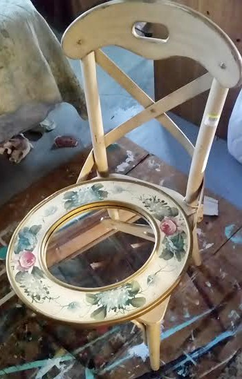thrift store, chair, makeover, before, fusion mineral paint, https://goo.gl/Jlx9EA