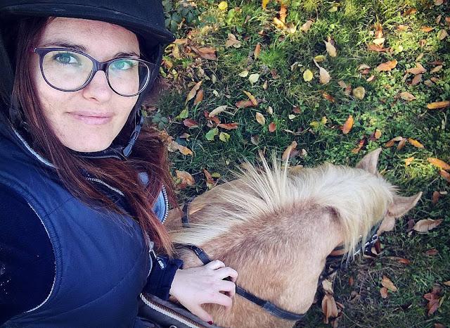 Selfie en selle sur Bekeim, mon cheval