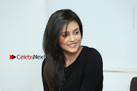 Telugu Actress Mishti Chakraborty Latest Pos in Black Top at Smile Pictures Production No 1 Movie Opening  0141.JPG