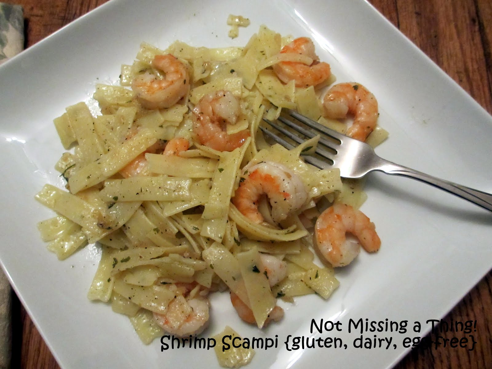 Menu For Olive Garden: Not Missing A Thing! Allergy Friendly Cooking: Shrimp Or