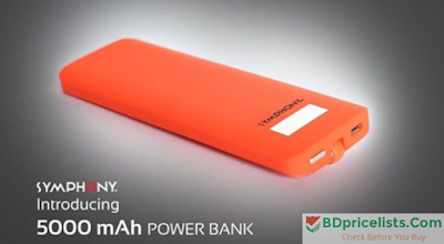 Symphony 5000 mAh Power Bank Details And Price In Bangladesh