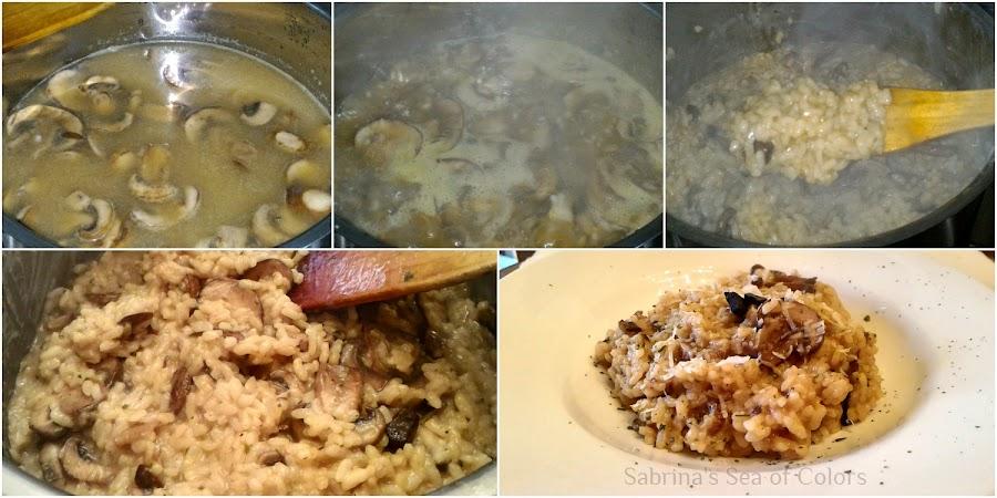Prepara Risotto de hongos portobello y ajo negro casero