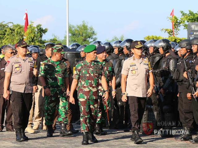 Marga Taufiq dan Royke Lumowa Pimpin Apel Gelar Pasukan Amankan Pemilu 2019