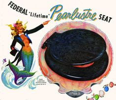 vintage mermaid toilet seat advertisement