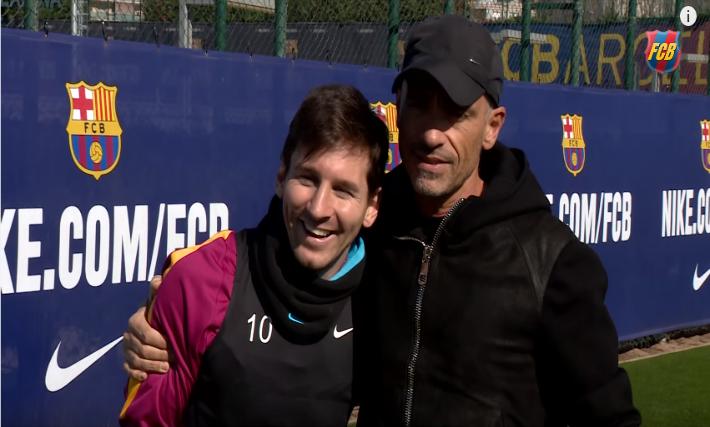 Lionel Messi faz gol impossível para Eros Ramazzotti