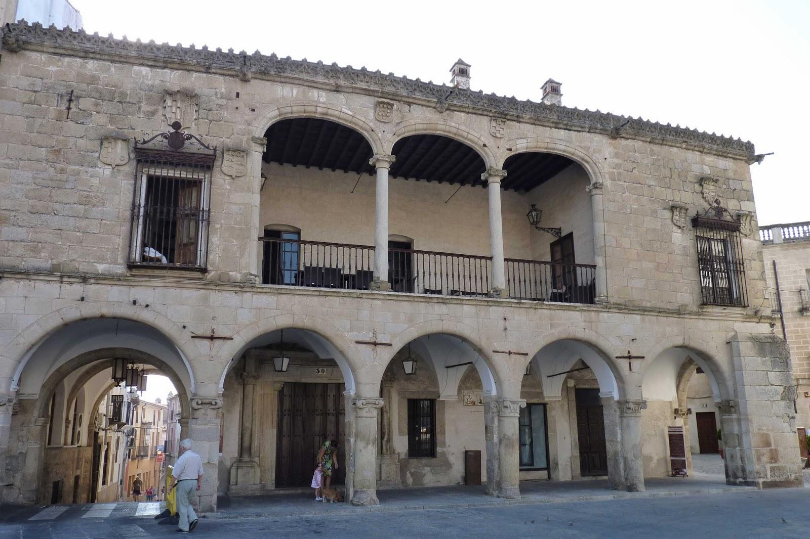 Palacio de Piedras Albas, Plaza Mayor de Trujillo.
