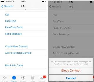 Block caller on iPhone