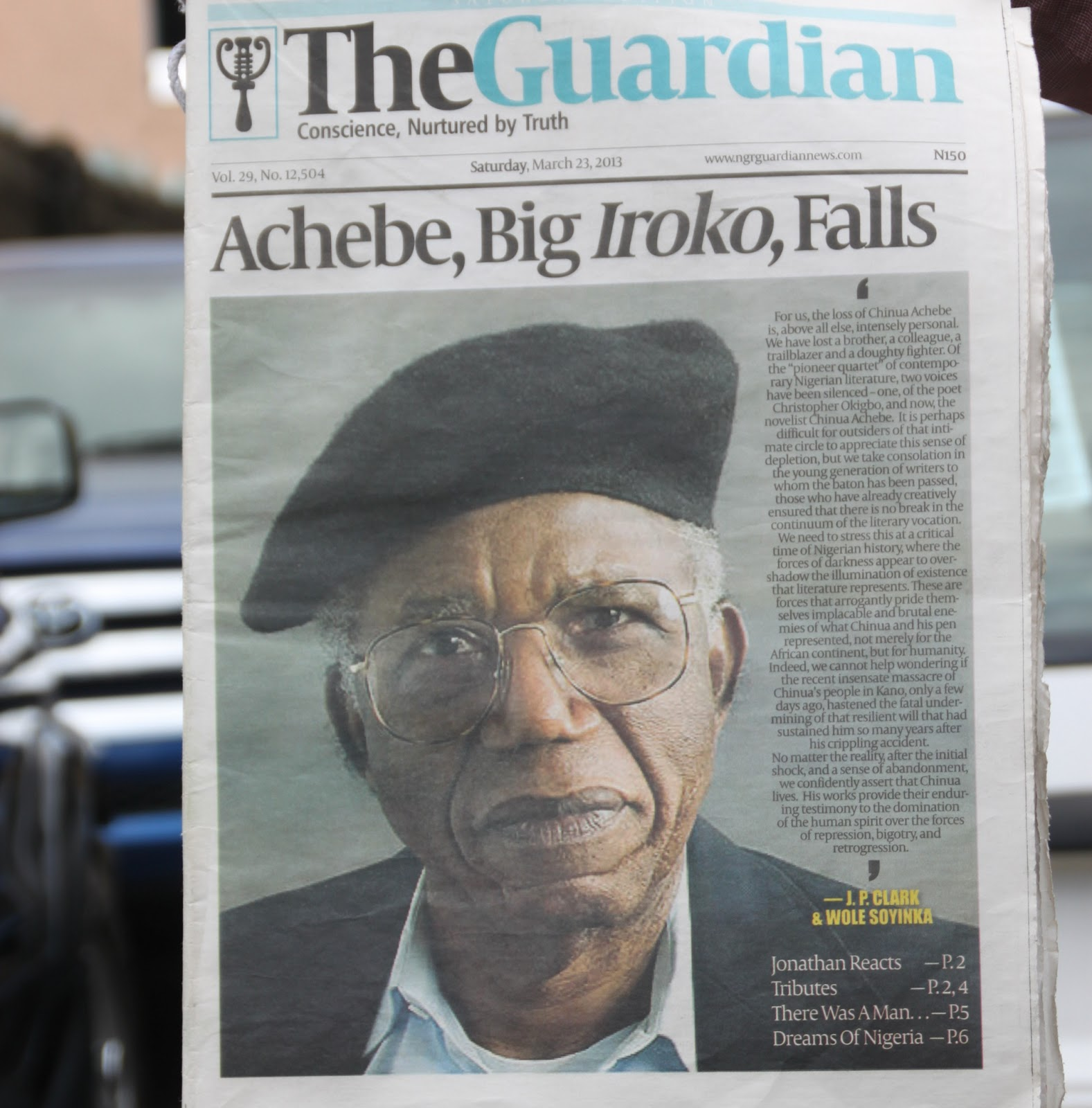 All Things Fall Apart Chinua Achebe: MUST READ!: New York Senate Passes Resolution On Chinua Achebe