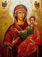 Maica Domnului cu pruncul Iisus, icoana pe lemn