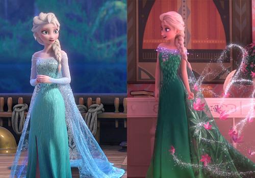 Elsa vestido azul e novo vestido apresentado em Frozen Ferver, ou febre congelante