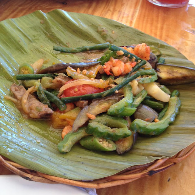 Seafood pinakbet at Lantaw Native Restaurant