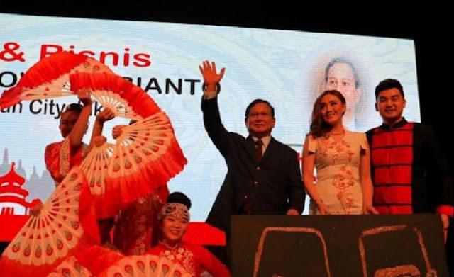Sapa Warga Tionghoa, Prabowo: Semua Suku dan Agama Miliki Hak yang Sama di NKRI