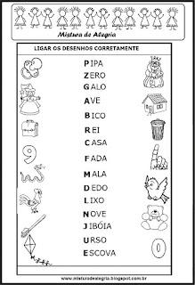 Letras iniciais de desenhos