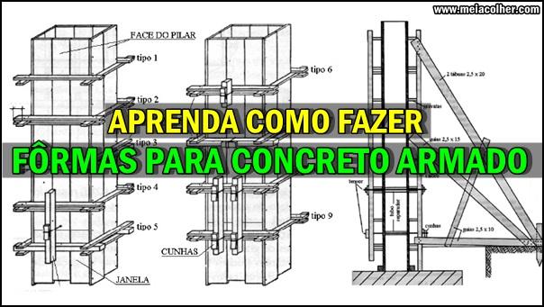 como fazer formas para concreto armado