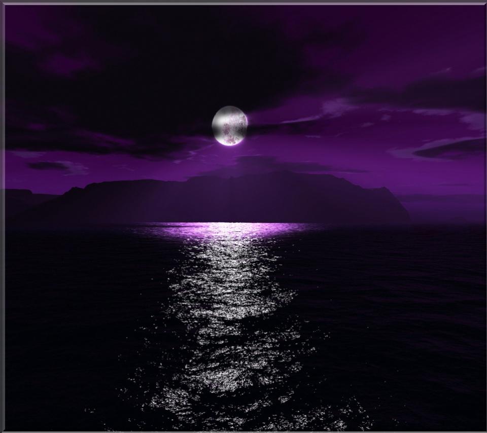 October 2012 purple background wallpapers - Purple moon wallpaper ...