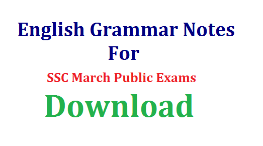 AP/TS SSC 10th Class English Study Material For Public Exams Download