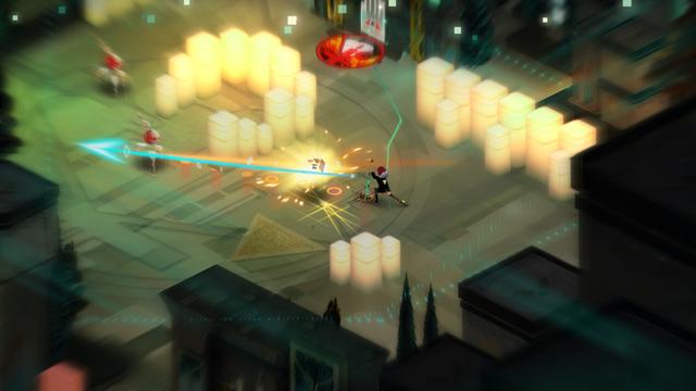 Imagem do Jogo demostrando um ataque a distância conta os robôs.