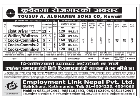 Job Vacancy in Kuwait, Yousuf A. Alghanim Sons Co. Kuwait. Salary up to Rs 55,590