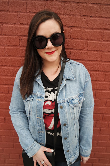 Sequins and Skulls: Double Denim & Glitter