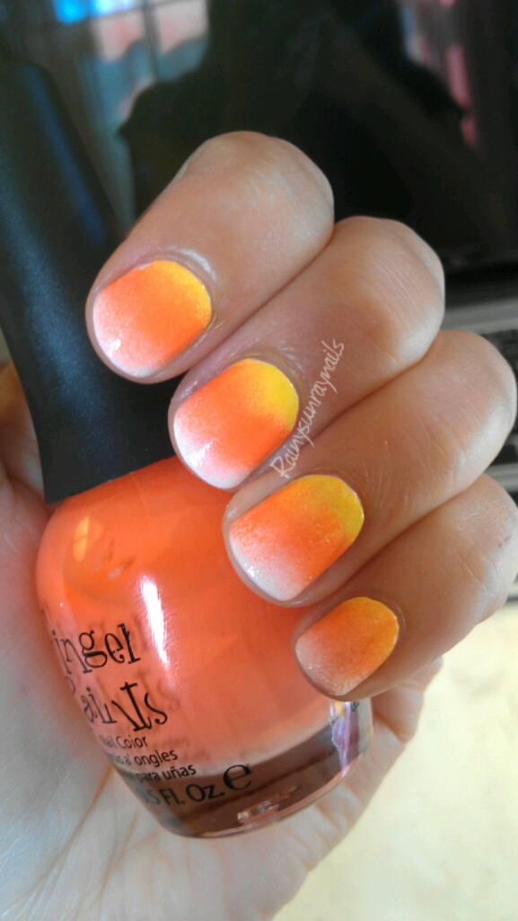 Rainysunraynails: Easy Candy Corn Nails. Fall 2012